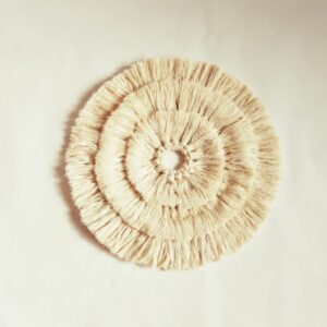 Boho cotton wall hanging