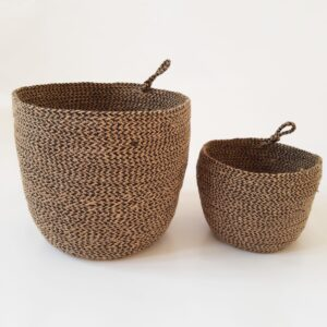 Brown Jute silk plant pot basket
