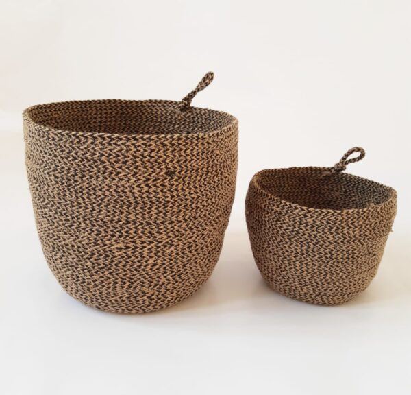 Brown Jute silk plant pot basket