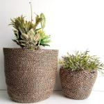 Brown Jute silk plant pot basket detailed 1