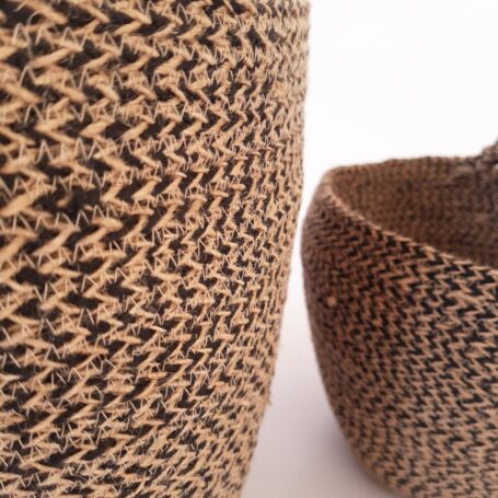 Brown Jute silk plant pot basket detailed