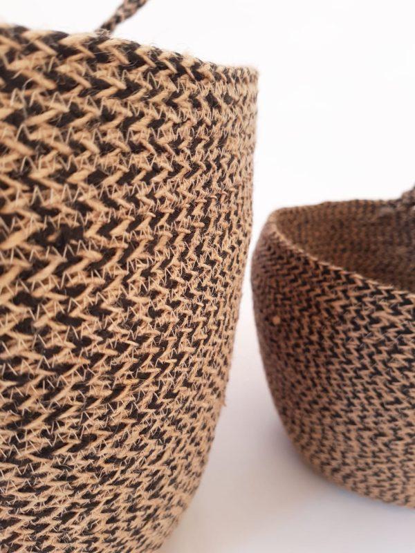 Brown Jute silk plant pot basket detailed