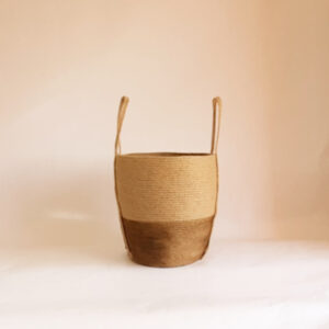 Brown cone jute basket