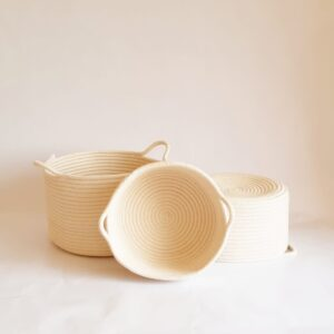 Set of cotton baskets