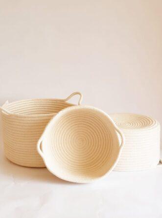 Set of cotton baskets