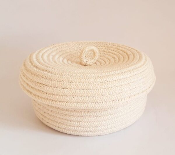 cotton bread baskets with lid 2