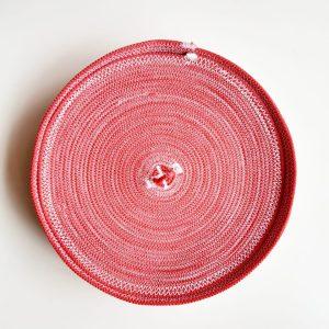 deep pink bread basket with lid 2