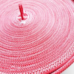 deep pink bread basket with lid