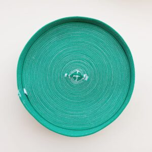 green bread basket with lid 3