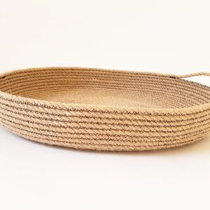jute tray with accent black side