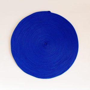 large blue silk placemat