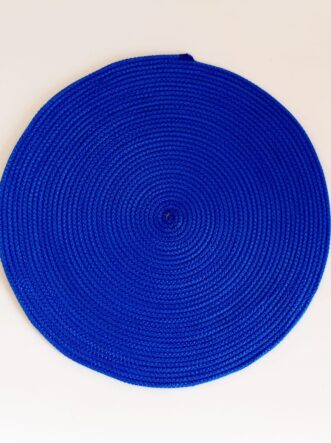 large blue silk placemat
