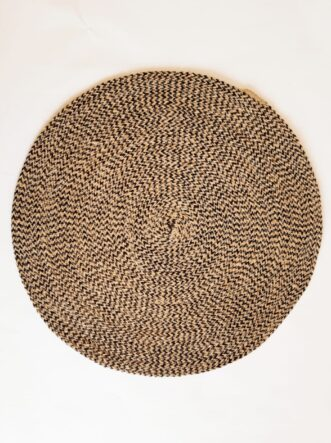 large brown jute placemat