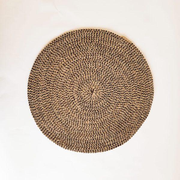 large brown jute placemat