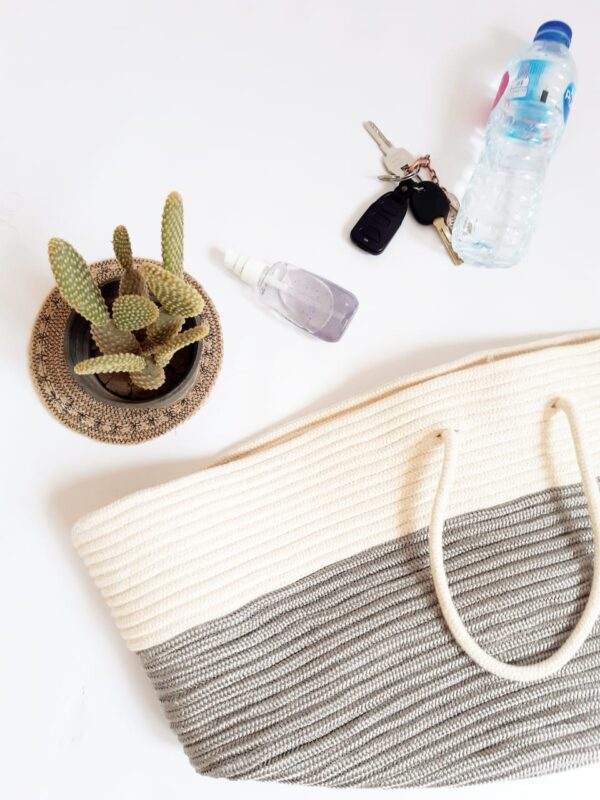 Large Storage Cone Cotton Silk Basket