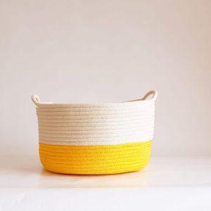 large yellow cotton silk baskets