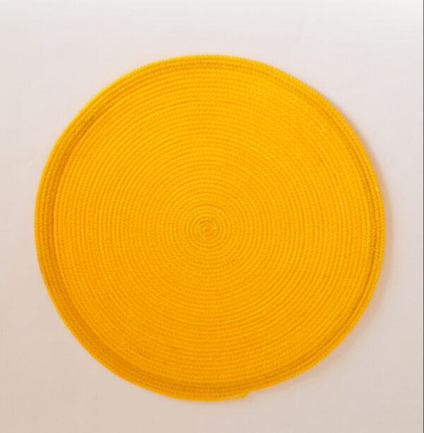 large yellow silk placemat