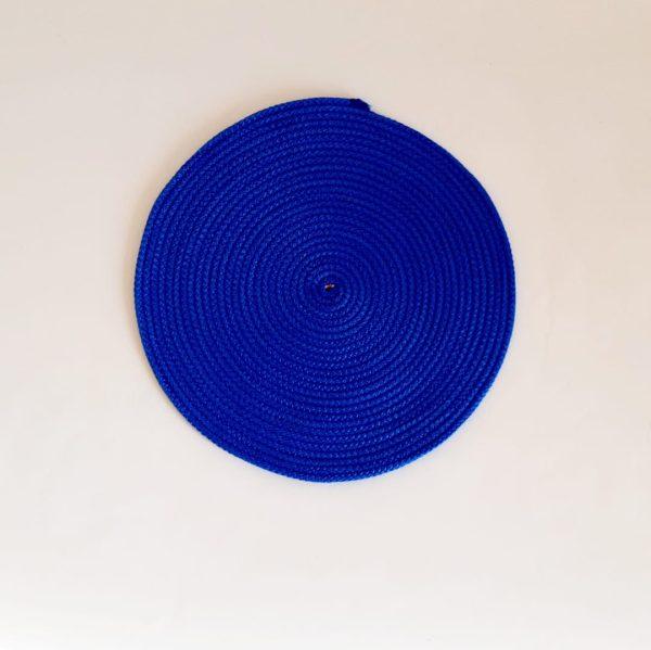 medium blue silk placemat
