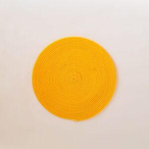 medium yellow silk placemat