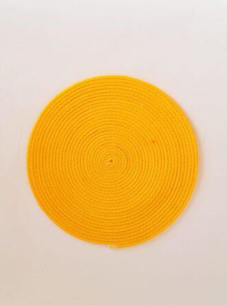 medium yellow silk placemat