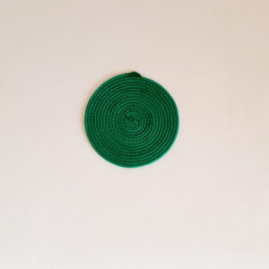 small green silk placemat