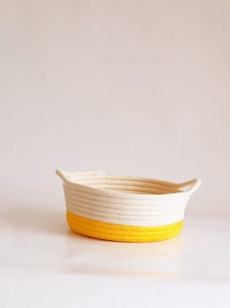 small yellow cotton silk baskets
