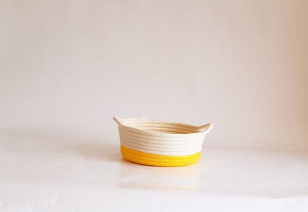 small yellow cotton silk baskets