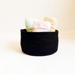 black silk basket