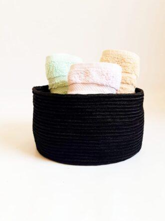 black silk basket
