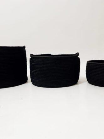 black silk baskets