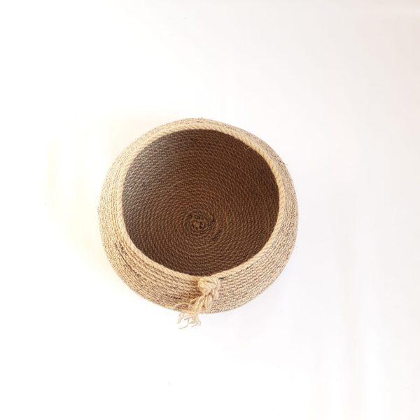bowl jute basket