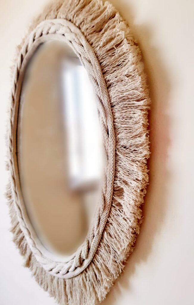 cotton mirror 50 cm detailed