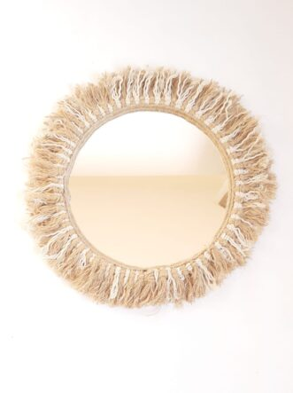 cotton jute mirror