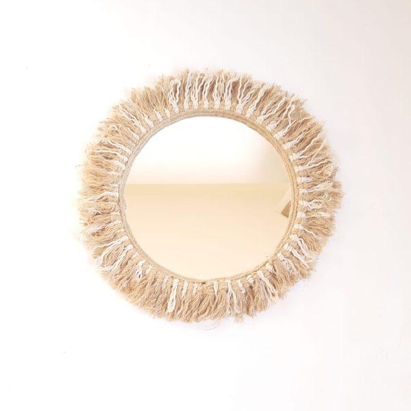 cotton jute mirror