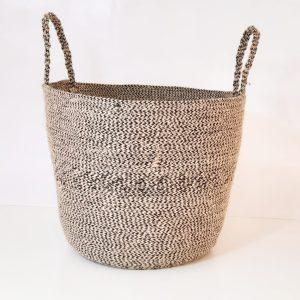 large jute basket bag