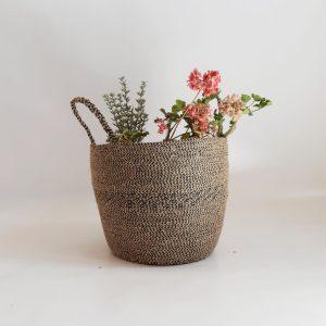 large jute basket bag pot