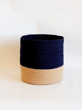 large silk navy blue