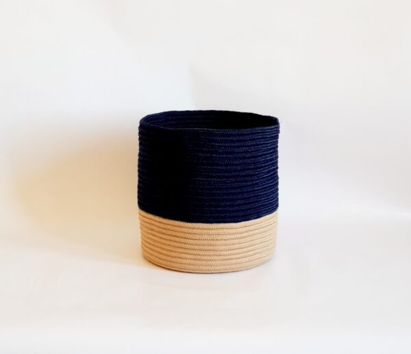 large silk navy blue