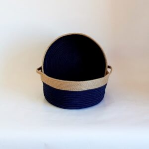 set of 2 small silk navy blue 2