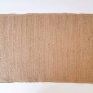 Rectangular Jute Rug with Fringes