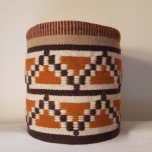 Geometric wool cotton basket