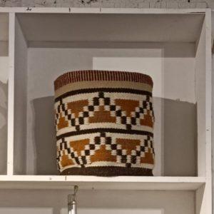 Geometric wool cotton basket